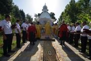 Литургия под открытым небом в храме св. равноапостольного князя Владимира г.Тимашевска