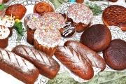 Освящение пасхальной продукции Тимашевского хлебокомбината